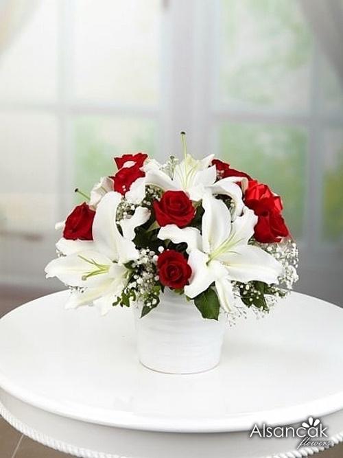 Seramikte Lilyum ve güller